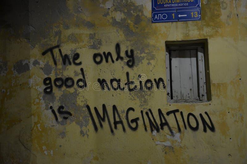 Graffiti-Zitat stockfoto