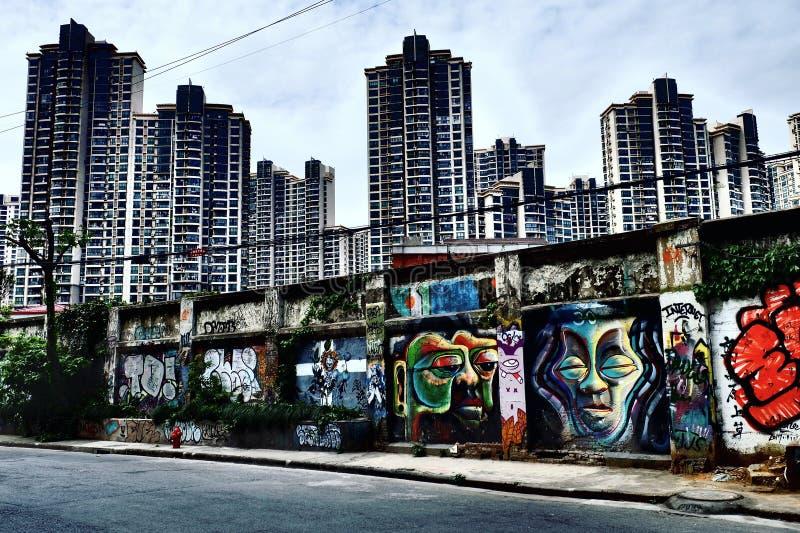 Graffitiart arkivfoton