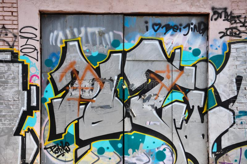 Graffitiart. stock afbeeldingen