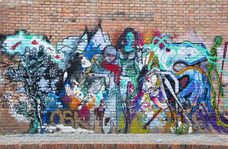 Graffitiart. royalty-vrije stock afbeeldingen