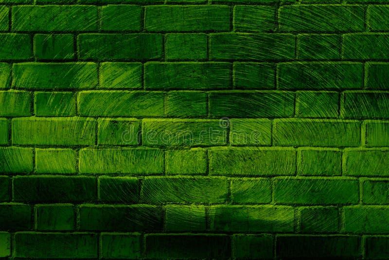 Graffitibacksteinmauer stock abbildung