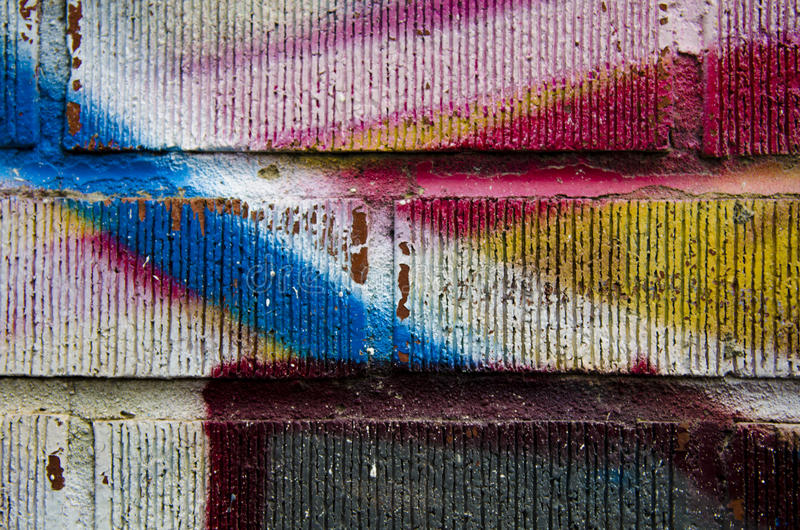 Graffitibacksteinmauer lizenzfreies stockbild