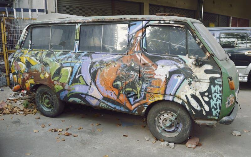 Graffitibestelwagen royalty-vrije stock fotografie