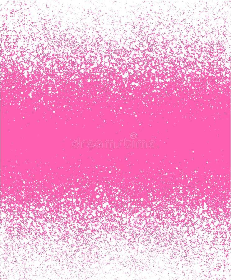 Graffitieffektwinter-Steigungshintergrund im rosa Weiß lizenzfreie abbildung