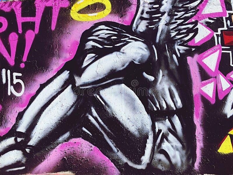 graffitiengel royalty-vrije stock foto