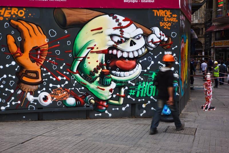 Graffities av Istanbul arkivfoton