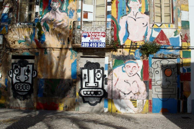 Graffities i Faro 28 arkivfoton