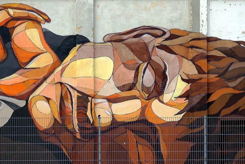 Graffitigesicht lizenzfreies stockfoto