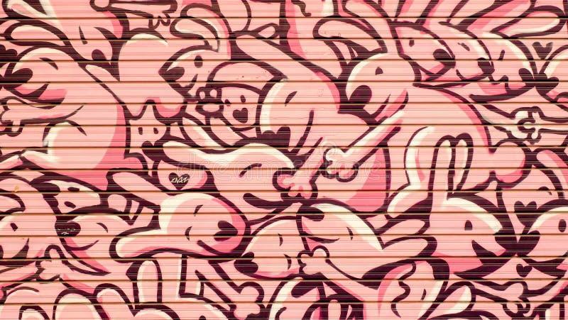Graffitihäschen stockbild