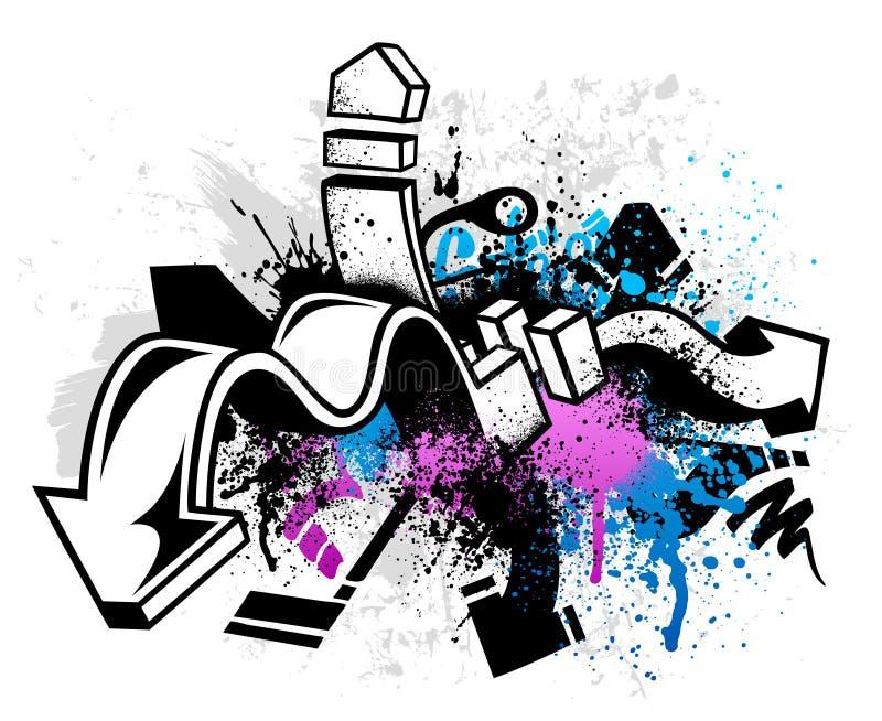 Graffitihintergrund stock abbildung