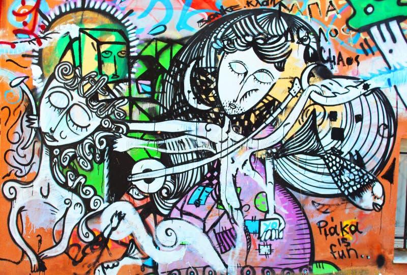 Graffitii sconosciuto dell'artista immagine stock libera da diritti