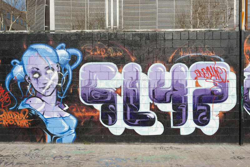 Graffitikunst lizenzfreies stockfoto