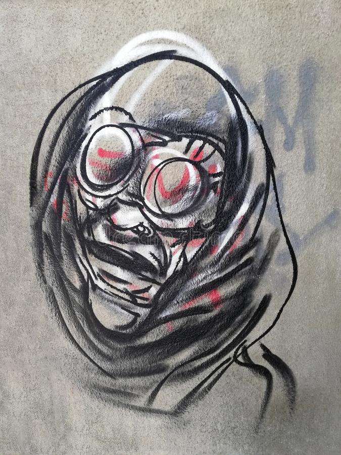 Graffitikunst, Boekarest, Roemenië royalty-vrije stock afbeelding