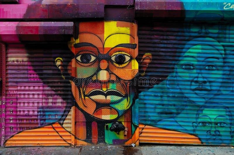 Graffitikunst in Harlem, NYC stockbild