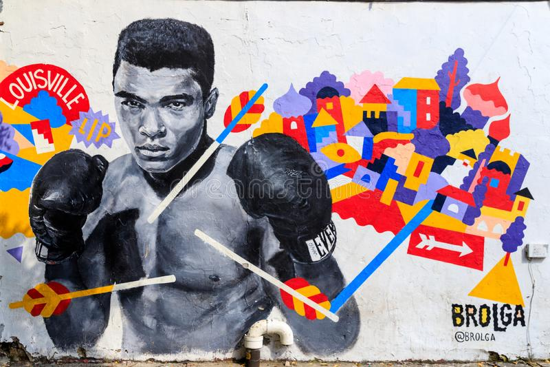 Graffitikunst in Williamsburg de Stad in van Brooklyn, New York, de V.S. royalty-vrije stock fotografie