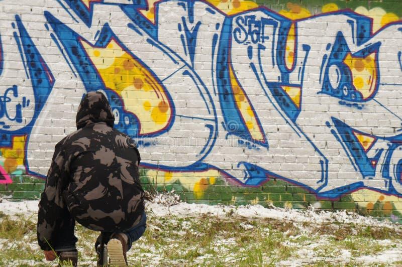 Graffitikunstenaar stock foto