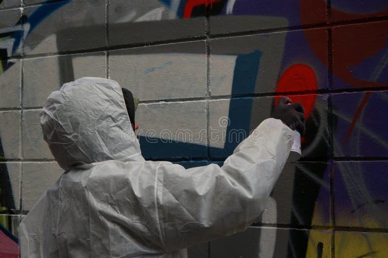 Graffitikunstenaar royalty-vrije stock afbeelding