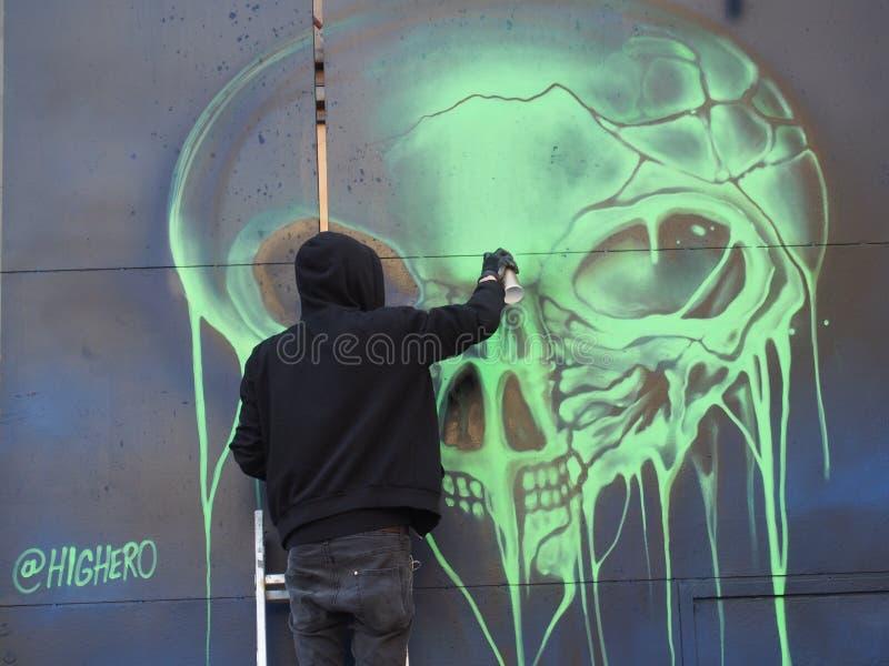 Graffitikunstenaar stock fotografie