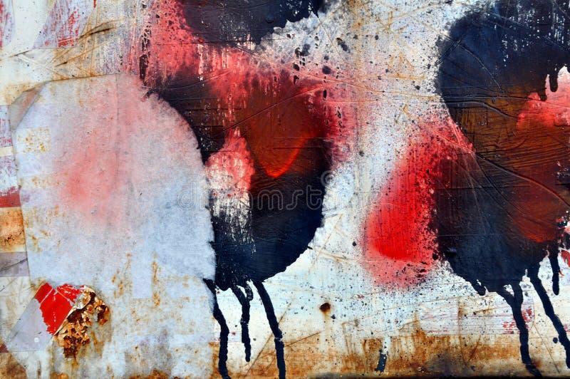 Graffitimuur stock foto's