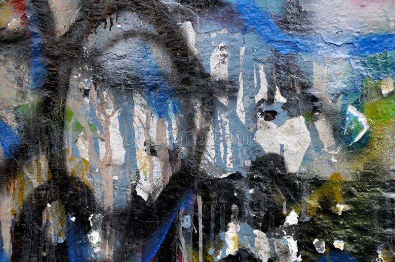 Graffitimuur royalty-vrije stock fotografie