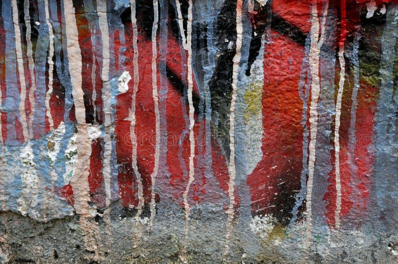 Graffitimuur royalty-vrije stock afbeelding