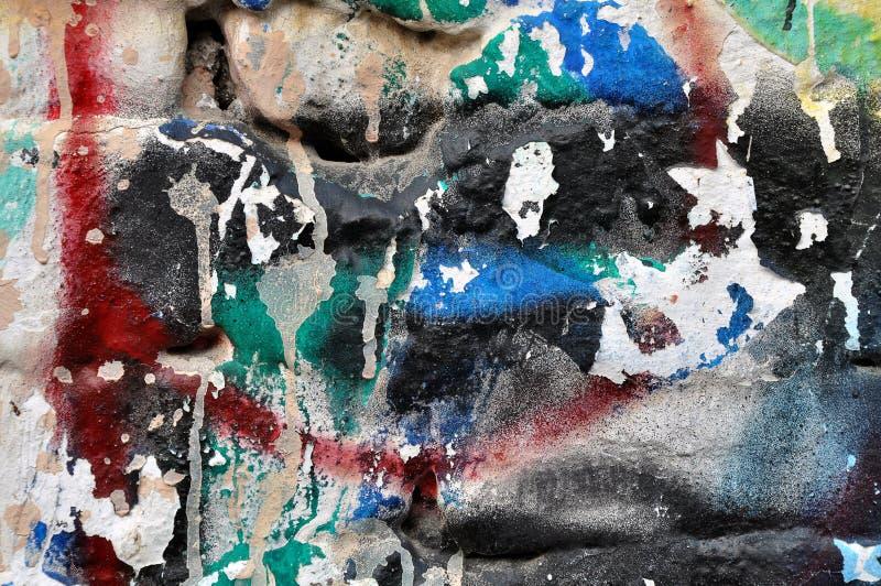 Graffitimuur stock afbeelding