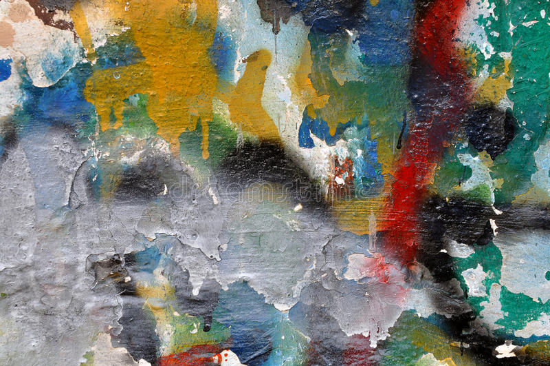 Graffitimuur royalty-vrije stock foto