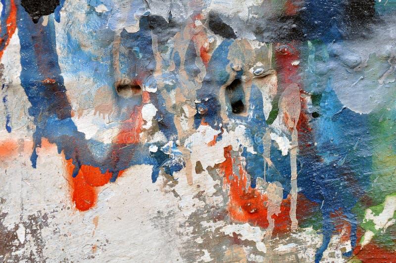 Graffitimuur stock afbeeldingen