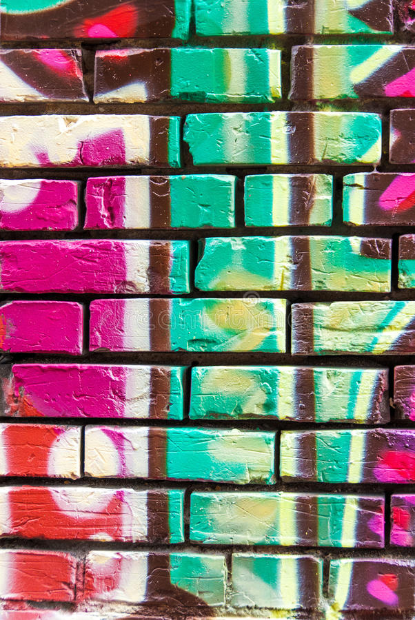 Graffitimuur stock foto