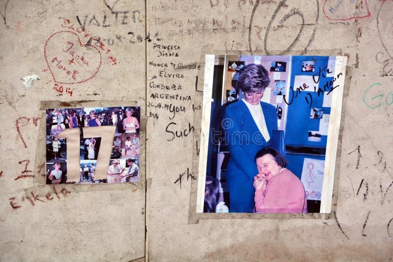 Graffitis para a recordar o 31 de agosto de 1997 fotografia de stock royalty free