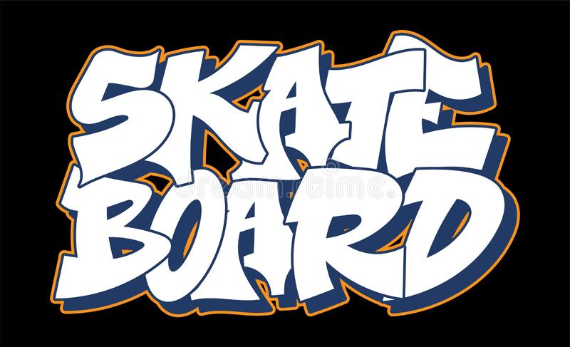 Graffitistijl het van letters voorzien tekstontwerp stock illustratie