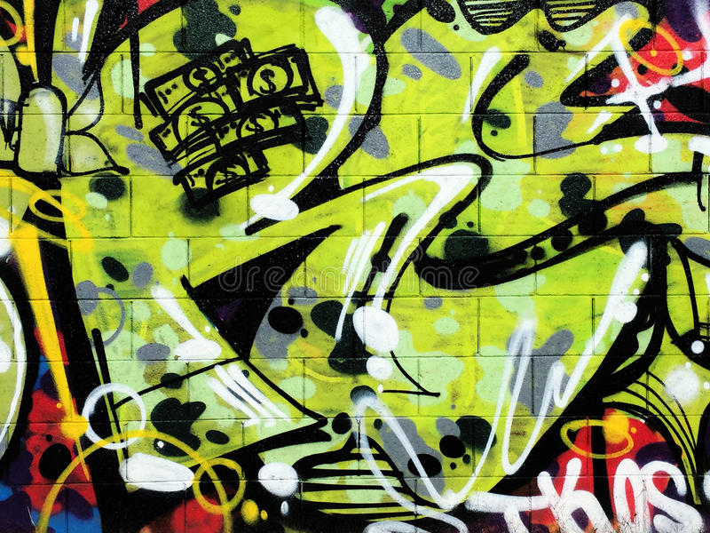 Graffitiwand stockbild