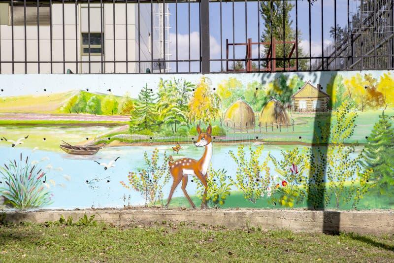 Graffitiwand auf Straßenöffentlicher galerie lizenzfreie stockfotografie