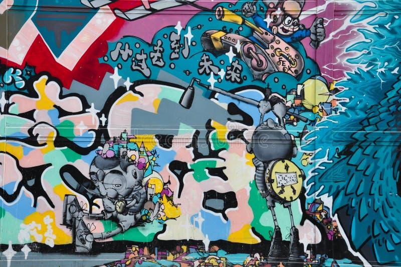Graffitiwand stockfotos