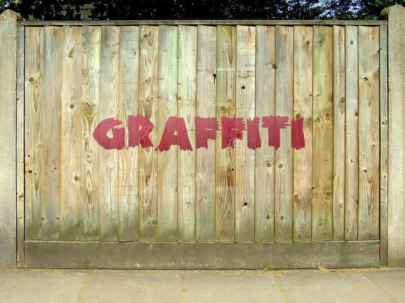 Graffitizaun stock abbildung