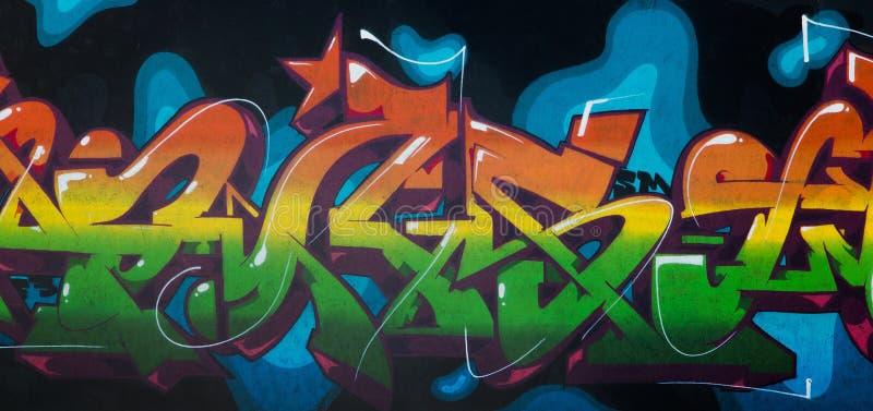 Graffitizeichnung mit Aerosolfarben lizenzfreie stockbilder