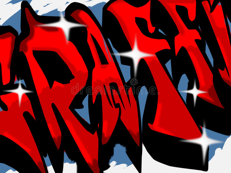 graffitti符号 皇族释放例证