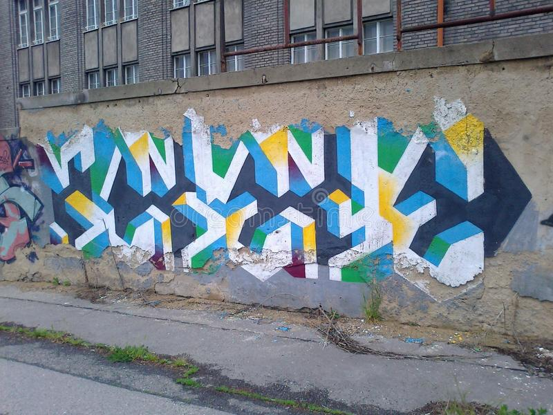 Graffitti arkivfoto