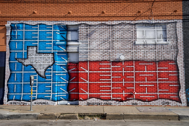 Graffitti dans Ellum profond Dallas photos stock