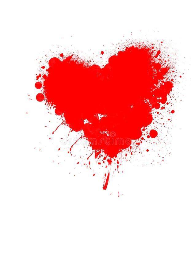 Graffitti del corazón ilustración del vector