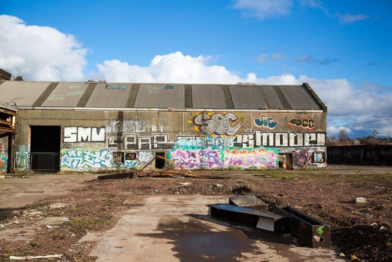 Graffitti urbano a Glasgow 2016 immagini stock