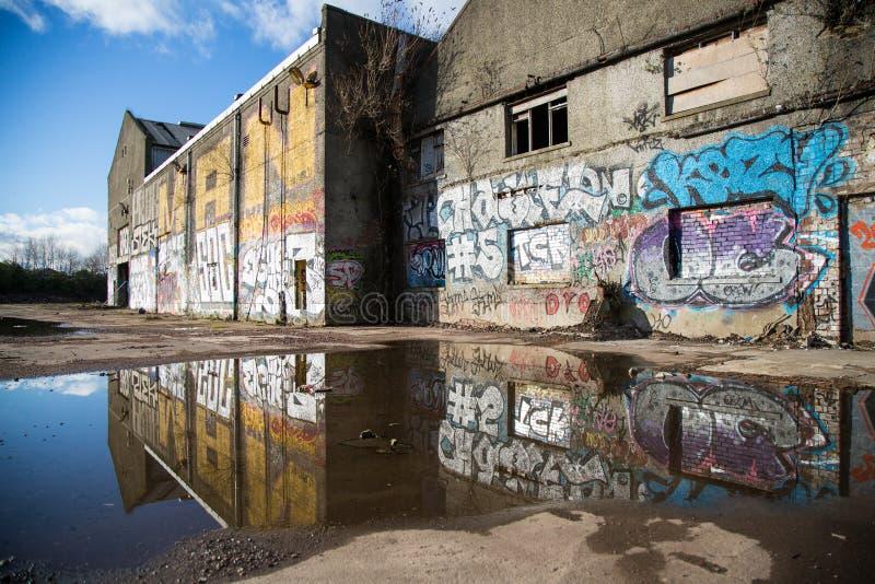 Graffitti urbano a Glasgow 2016 fotografia stock libera da diritti