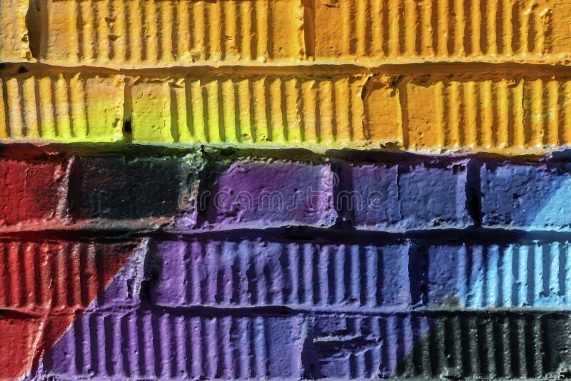 Graffity墙壁特写镜头 摘要detal都市街道艺术设计 现代偶象都市文化 可以是有用的为 库存照片