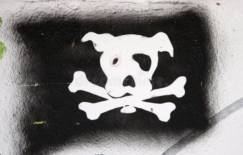graffity σκυλιών στοκ εικόνες με δικαίωμα ελεύθερης χρήσης