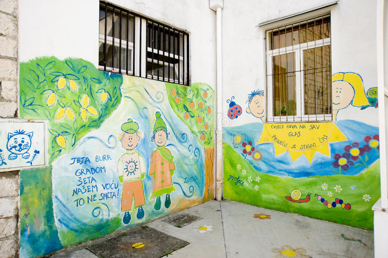 Graffity детей стоковые фотографии rf