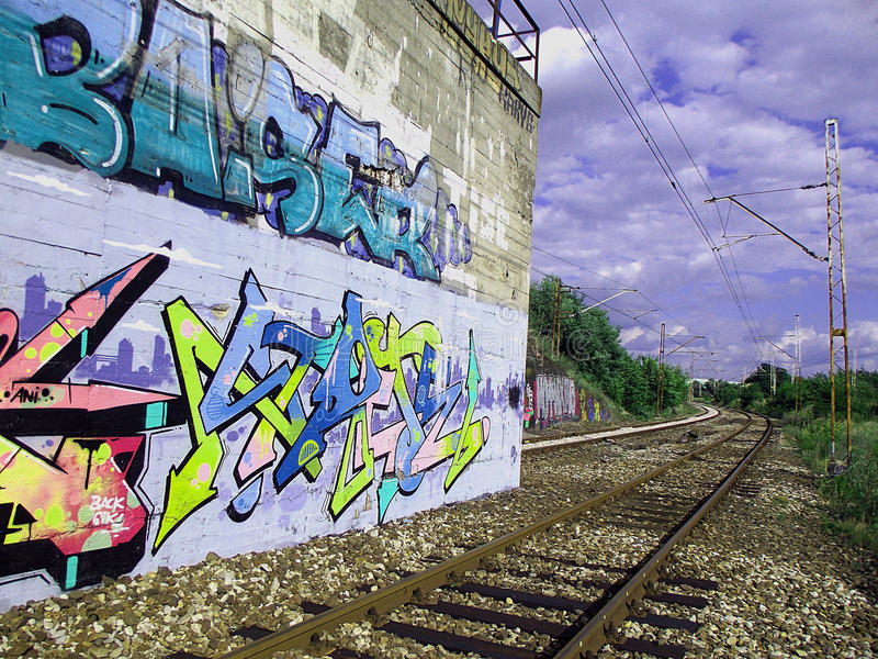 Graffity royaltyfria bilder