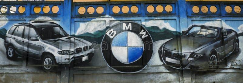 Graffity de voiture de BMW image libre de droits