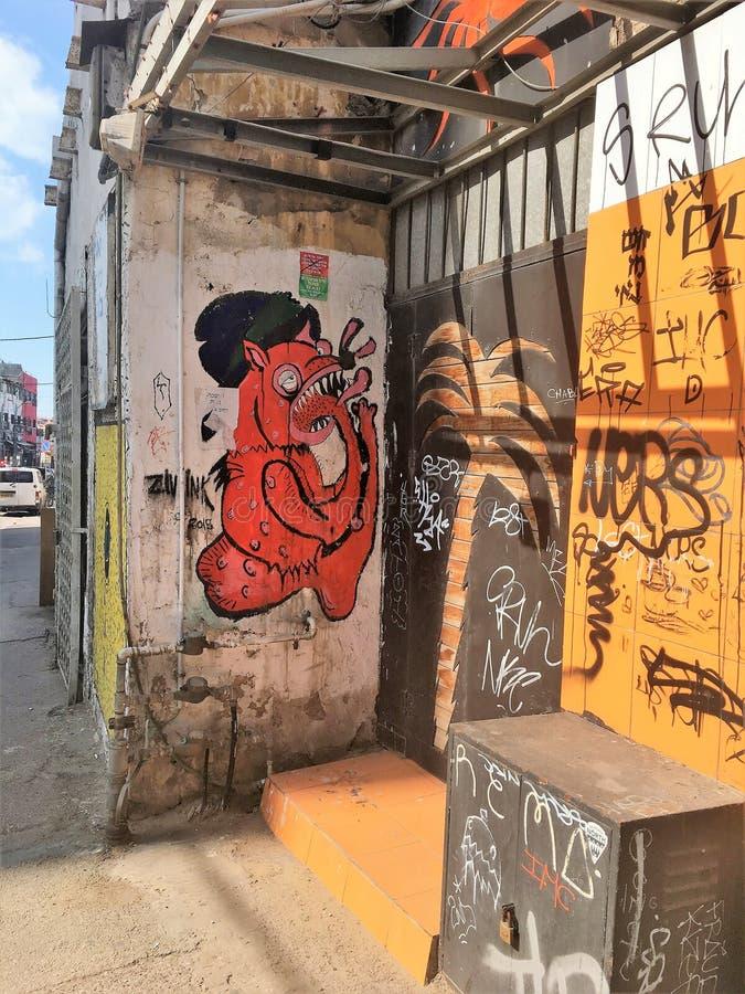 Graffity en Tel Aviv imagen de archivo libre de regalías