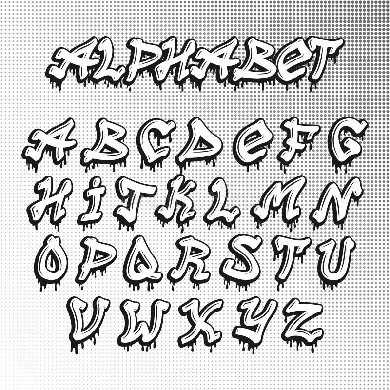 Graffity Font Stock Illustration. Illustration Of Alphabet