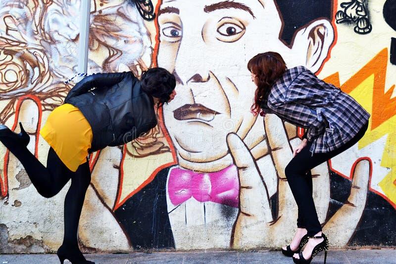 Graffity kiss stock photos